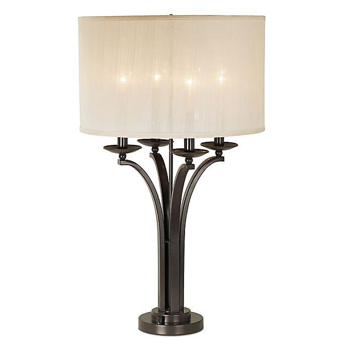 Pacific Coast Lighting Kathy Ireland Pennsylvania Country 4 Light Table Lamp In Bronze