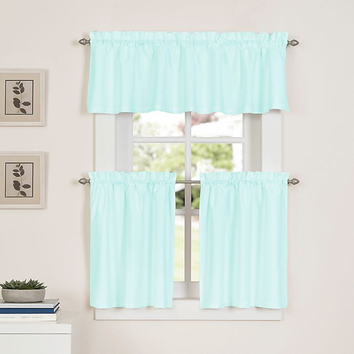 Alternate image 1 for Newport 45-Inch Kitchen Window Curtain Tier Pair in Mint