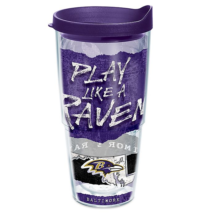 Alternate image 1 for Tervis® NFL Baltimore Ravens 24 oz. Statement Wrap Tumbler with Lid