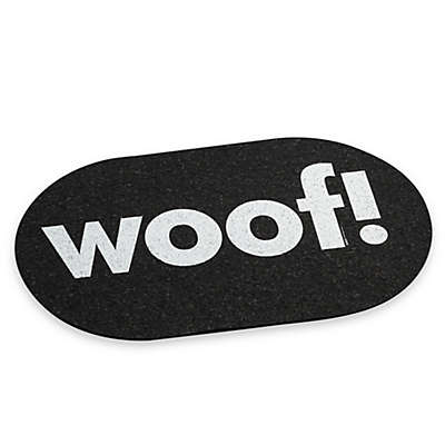 """Ore Originals Jumbo Recycled Rubber """"Woof"""" Placemat"""