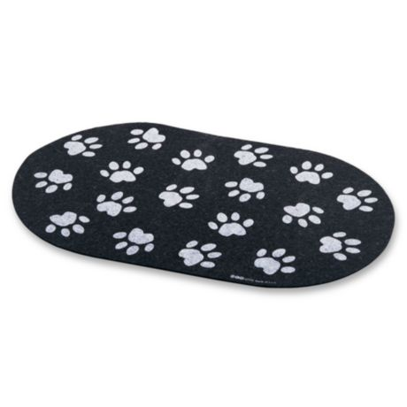 Jumbo Recycled Rubber Paw Print Placemat | Bed Bath & Beyond