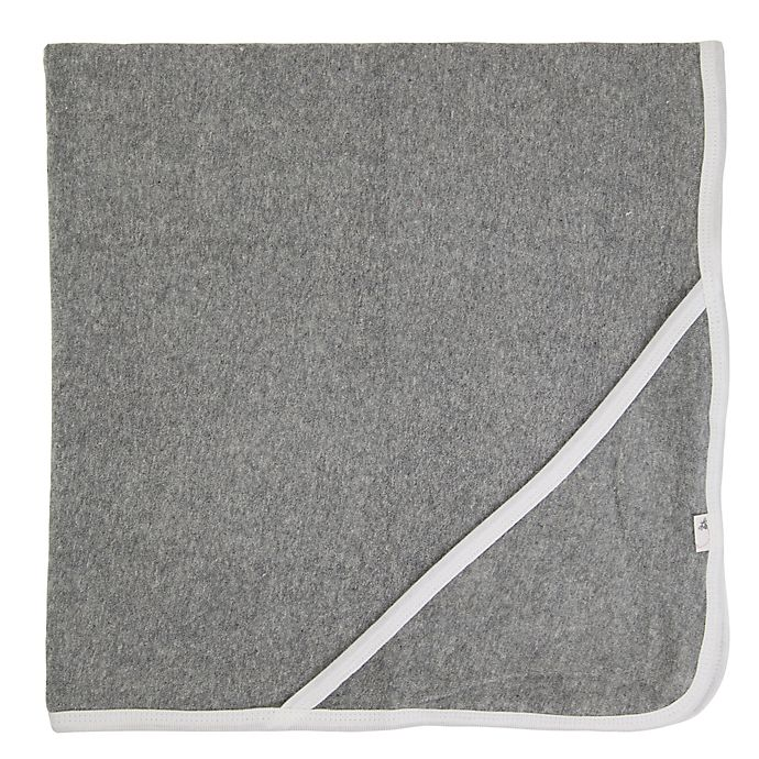 Alternate image 1 for Burt's Bees Baby® Organic Cotton Hooded Towel in Heather Grey