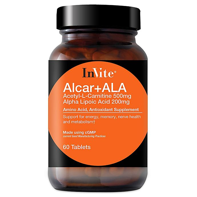 Alternate image 1 for InVite® 60-Count Alcar + ALA Tablets