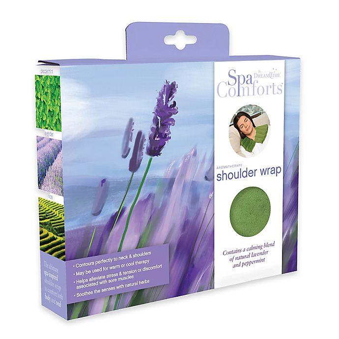 Alternate image 1 for Spa Comforts Shoulder Wrap in Mint/Brown
