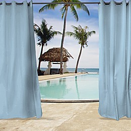 Sunbrella® Canvas Grommet Top Indoor/Outdoor Curtain Panel in Air Blue