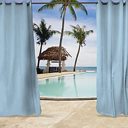 Sunbrella® Canvas Grommet Top Indoor/Outdoor Curtain Panel in Air Blue
