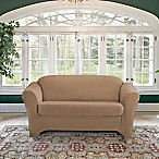 FurnitureSkins™ Kensington 2-Piece Stretch Loveseat Cover with Cushion Cover in Biscuit