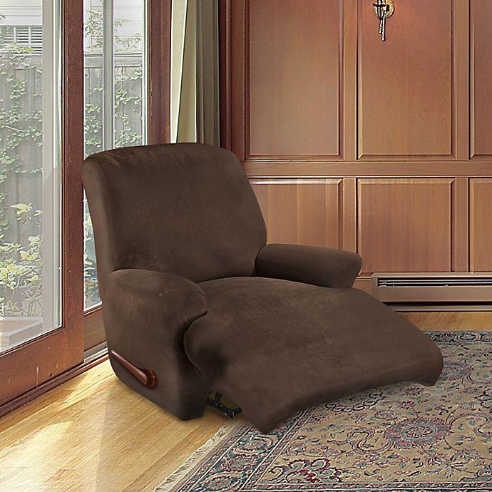 Alternate image 1 for FurnitureSkins™ Kensington 4-Piece Stretch Recliner Cover