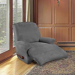 FurnitureSkins™ Kensington 4-Piece Stretch Recliner Cover in Slate