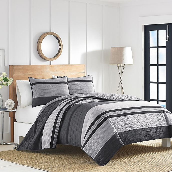 Alternate image 1 for Nautica® Vessey Quilt in Grey