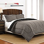 Martex 2-Tone Reversible Full/Queen Comforter Set in Graphite/Ebony