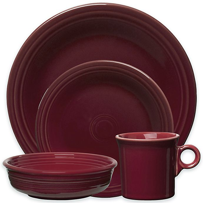 Alternate image 1 for Fiesta® 4-Piece Place Setting in Claret