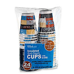 Harmon® Face Values™ 24-Count 12 oz. Insulated Soft-Touch Cups with Lids