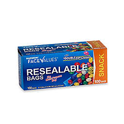 Harmon® Face Value™ 100-Count Resealable Snack Bags