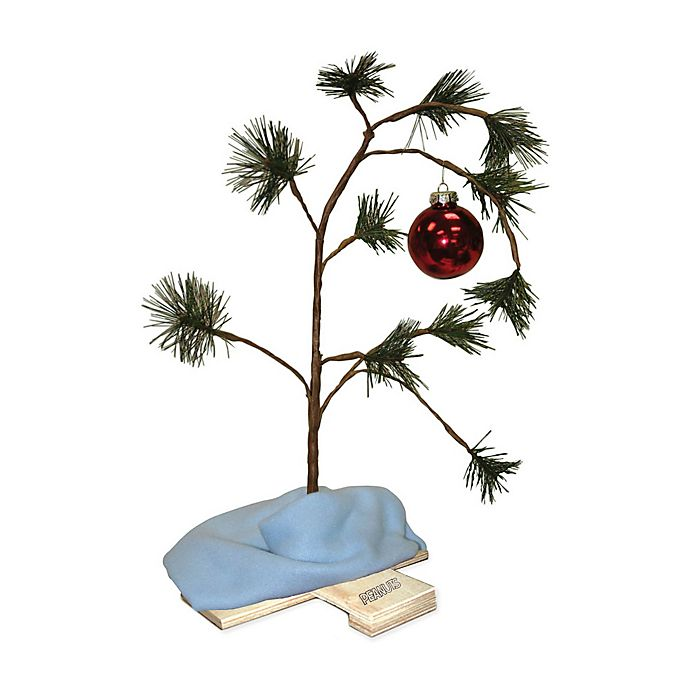 Peanuts Charlie Brown 24 Inch Christmas Tree With Music Chip Bed