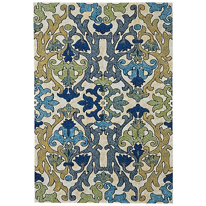 Alternate image 1 for Feizy Caslon Damask 8-Foot x 11-Foot Multicolor Area Rug
