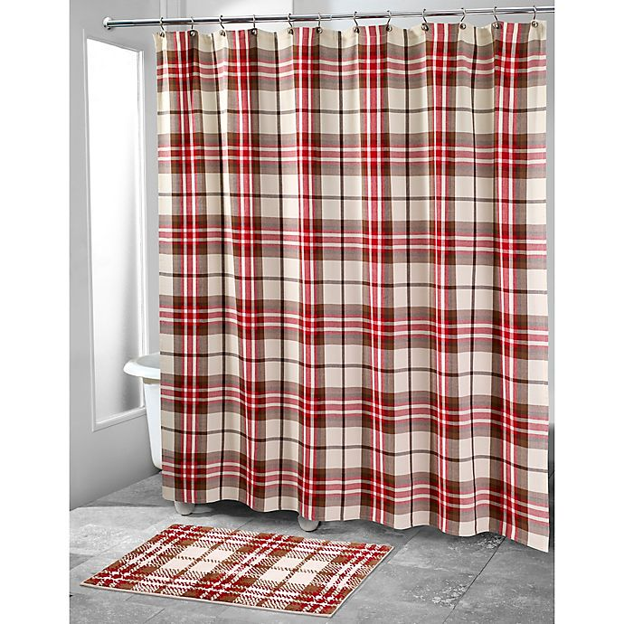 Alternate image 1 for Avanti Hunter Plaid Shower Curtain
