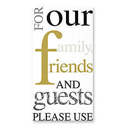 Gold and Black 32-Count Paper Guest Towels