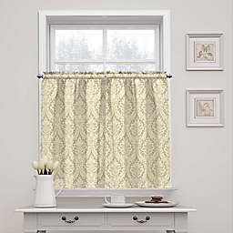 Waverly Donnington Damask 36-Inch Tier Pair in Linen