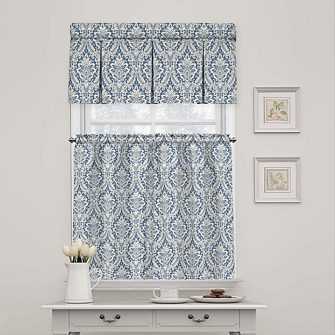 Waverly Donnington Damask Window Curtain Tier Pair And