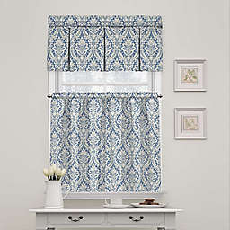 Waverly Donnington Damask Window Curtain Tier Pair and Valance