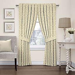 Waverly Donnington Damask 63-Inch Rod Pocket Window Panel in Linen