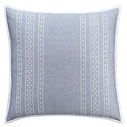 Chambray Dot European Pillow Sham in Blue
