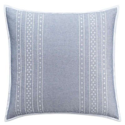 Chambray Dot European Pillow Sham in Blue