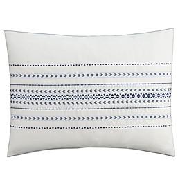 Cupcakes and Cashmere Indigo Stripe Pillow Sham in White/Blue