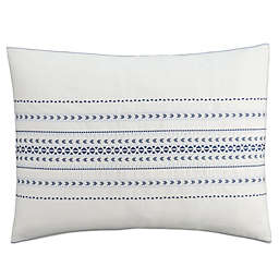 Cupcakes and Cashmere Indigo Stripe Pillow Sham in White/Blue