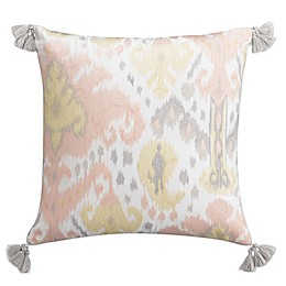 Cupcakes and Cashmere Kilim Square Throw Pillow in White/Pink
