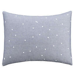 Chambray Dot Pillow Sham in Blue