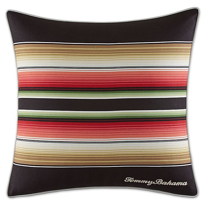 Alternate image 1 for Tommy Bahama® Jungle Drive Striped Throw Pillow in Black/Red