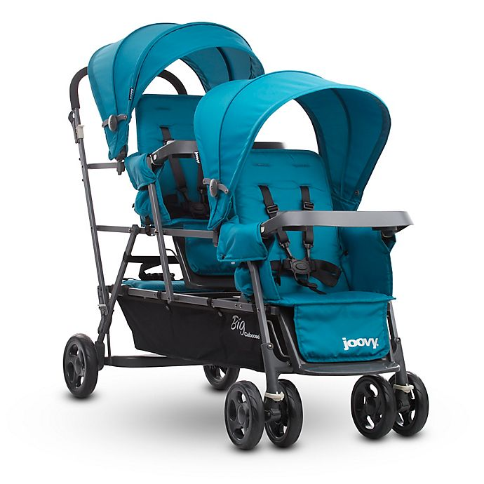 Alternate image 1 for Joovy® Big Caboose Graphite Stand-On Triple Stroller in Turquoise