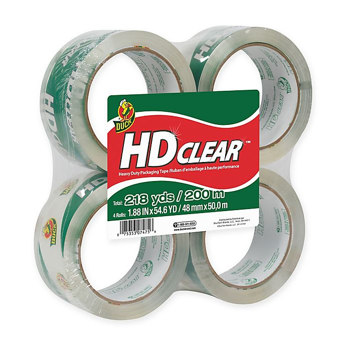 Alternate image 1 for HD Clear™ 4-Pack Packaging Tape
