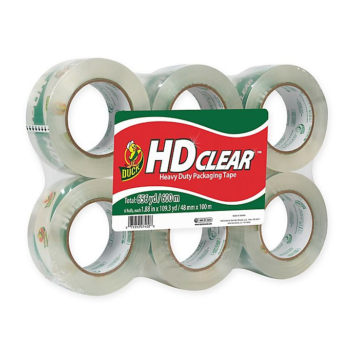 Alternate image 1 for HD Clear™ Packaging Tape, 6-pack, 1.88 in. x 109.3 yd.