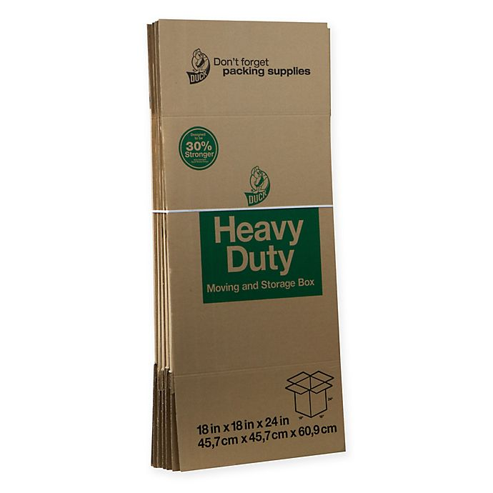 Alternate image 1 for Duck® Brand Heavy Duty Kraft Box Collection