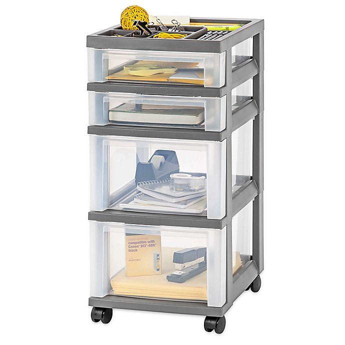 Alternate image 1 for IRIS® 4-Drawer Rolling Storage Cart
