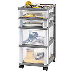 IRIS® 4-Drawer Rolling Storage Cart