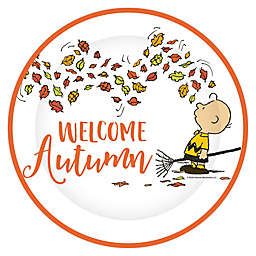"""C.R. Gibson 8-Count Peanuts™ """"Welcome Autumn"""" 10.5-Inch Harvest Dinner Plates"""
