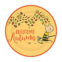 """C.R. Gibson 8-Count Peanuts™ """"Welcome Autumn"""" 8-Inch Harvest Lunch Plates"""