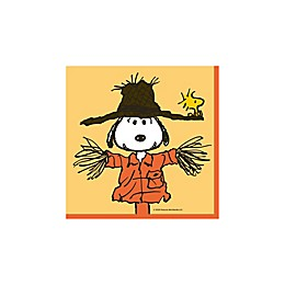 """C.R. Gibson 20-Count Peanuts™ """"Welcome Autumn"""" Harvest Beverage Napkins"""
