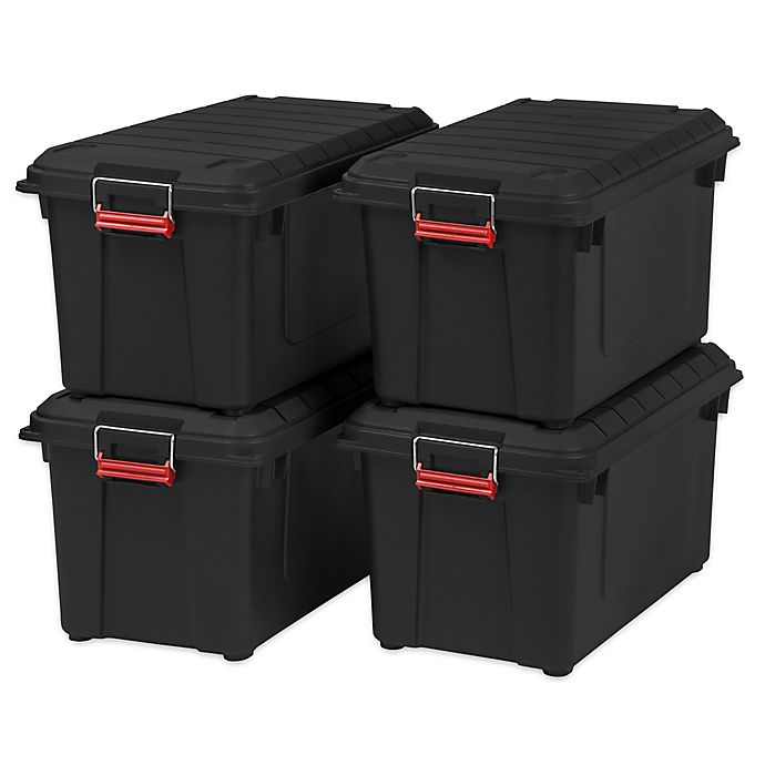 Alternate image 1 for IRIS® Store-It-All 21.8-Gallon Heavy Duty Storage Tote (Set of 4)