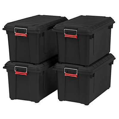 IRIS® Store-It-All 21.8-Gallon Heavy Duty Storage Tote (Set of 4)