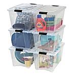 IRIS® Stack & Pull™ 53 qt. Plastic Latch Boxes (Set of 6_