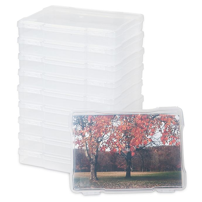 Alternate image 1 for IRIS® Photo Storage and Craft Case in Clear (Set of 10)