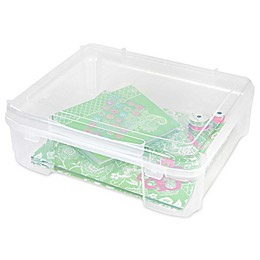 IRIS® Plastic Scrapbook Storage Cases