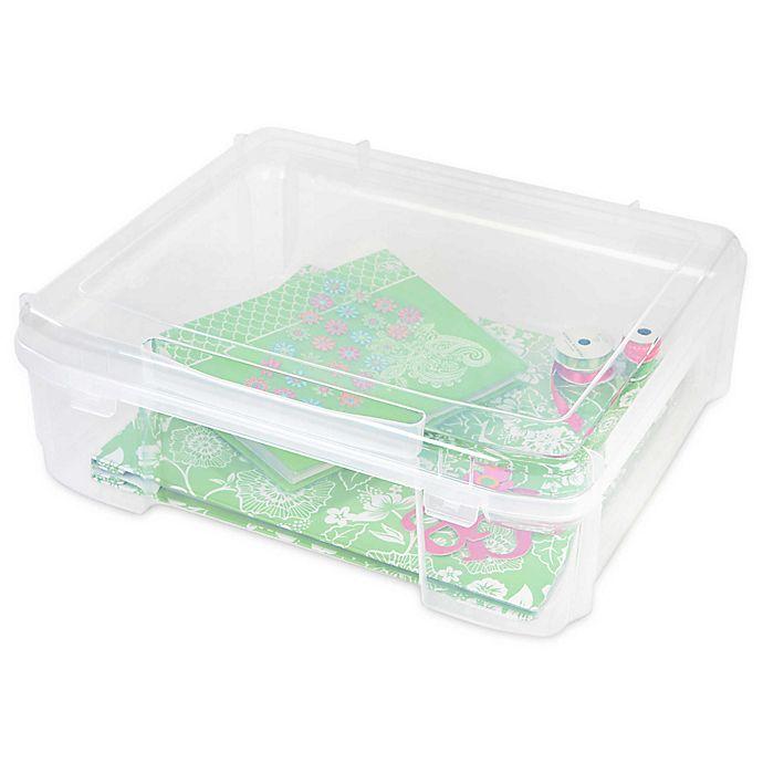 Alternate image 1 for IRIS® Plastic Scrapbook Storage Cases