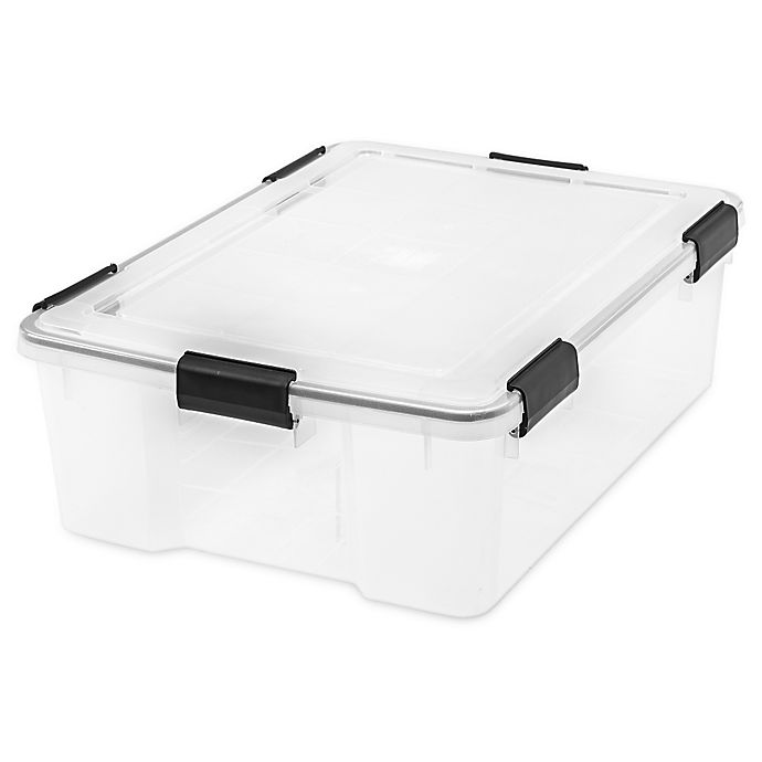 Alternate image 1 for IRIS® Weathertight® 41 qt. Storage Containers (Set of 4)