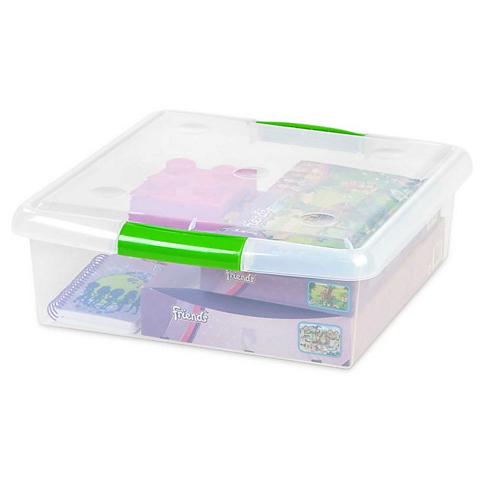 Alternate image 1 for IRIS® Store and Slide 25 qt. Underbed Square Storage Containers (Set of 6)